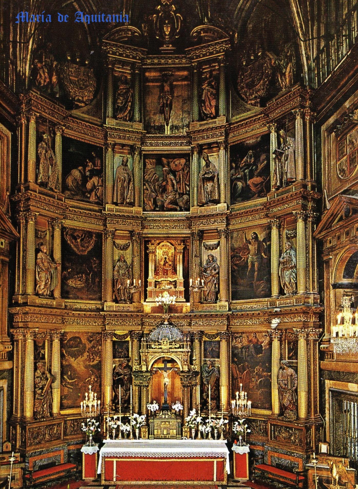 Retablo Mayor del Monasterio de Guadalupe,obra de Juan Gómez de Mora.